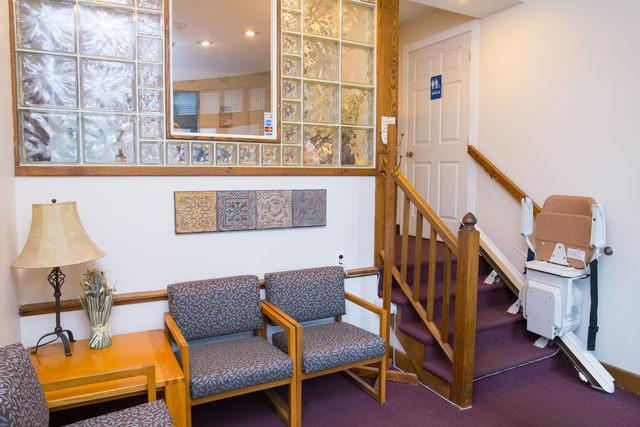 reception area Silver Dental Burlington Township